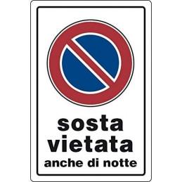 CARTELLO PVC 30X20 'SOSTA...